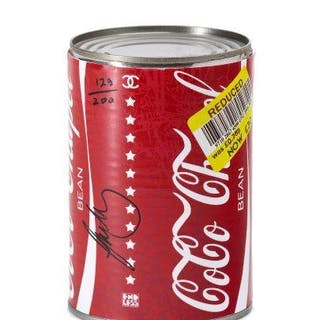 Endless, British 20th/21st century- Coco Chapel Beans, 2018; tin can