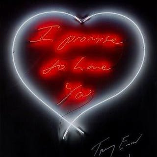Tracey Emin CBE RA, British b.1963- I promise to love you, 2014; digitally