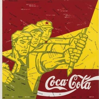 Wang Guangyi, Chinese b.1957- Coca Cola (red) from the Great Criticism