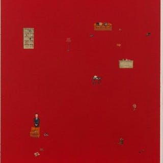 Zeng Hao, Chinese b.1963- Untitled red, 2002; lithograph in colours