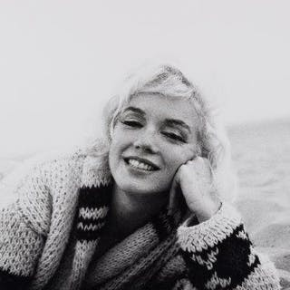 George Barris, American 1922-2016- Portrait of Marilyn Monroe, lying
