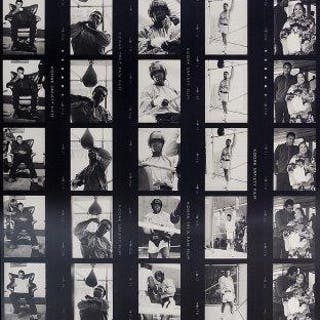 Terry O'Neill CBE, British b. 1938- Muhammed Ali, 1972; contact sheet