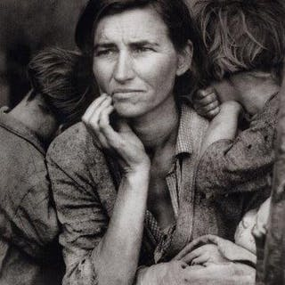 Dorothea Lange, American 1895-1965- Migrant Mother, 1936; photogravure