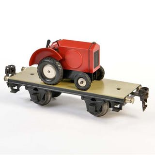 Märklin, Plattformwagen mit Traktor