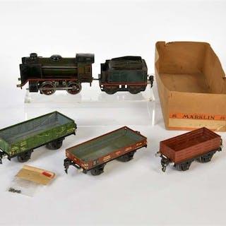 Märklin, Lok R 12880 (Chassis lose) + 3 Güterwagen