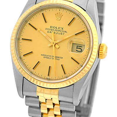 """Certified Pre-Owned Gent's Stainless Steel & 18K Yellow Gold Rolex """"Datejust"""""""