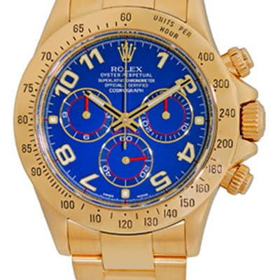 """Certified Pre-Owned Gent's 18K Yellow Gold Rolex """"Daytona"""" Cosmograph"""