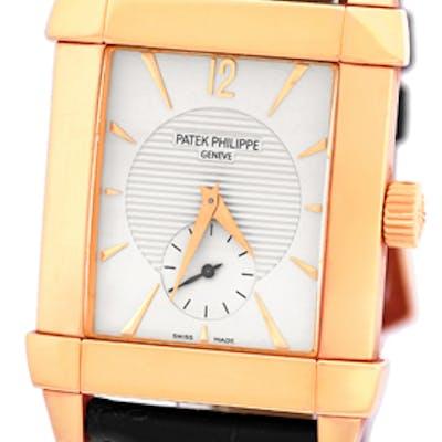 "Gent's 18K Rose Gold Patek Philippe Ref # 5111 ""Gondolo"" Strapwatch"
