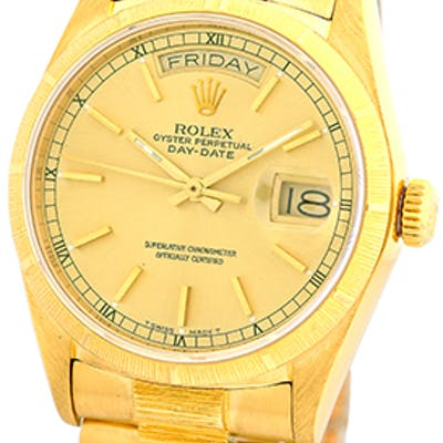 Certified Pre-Owned Gent's 18K Yellow Gold Rolex Bark...