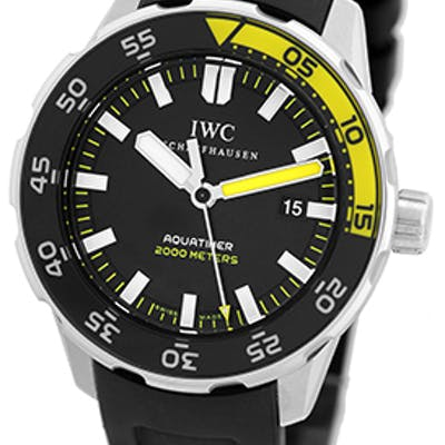 """Gent's Stainless Steel IWC """"Aquatimer"""" Divers Strapwatch"""