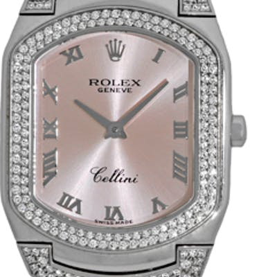 """Certified Pre-Owned Lady's 18K White Gold Diamond Rolex """"Cellini Cellissima"""""""
