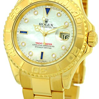 """Certified Pre-Owned Gent's 18K Yellow Gold Rolex """"Yachtmaster"""""""