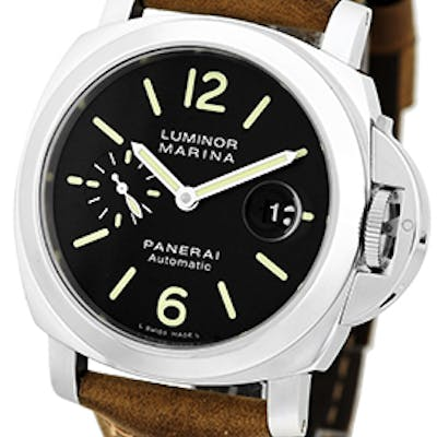 "Gent's Stainless Steel 44mm Panerai ""Luminor Marina"" PAM 104 Strapwatch"
