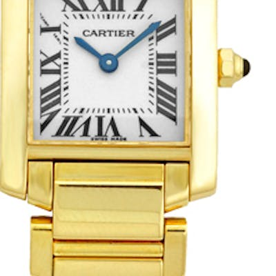 """Lady's 18K Yellow Gold Cartier """"Tank Francaise"""""""