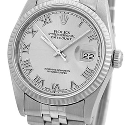 """Certified Pre-Owned Gent's Stainless Steel Rolex """"Datejust"""""""