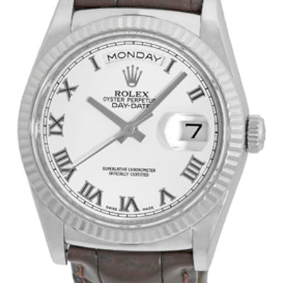 "New-Style Gent's 18K White Gold Rolex ""Day-Date 36"" Strapwatch"