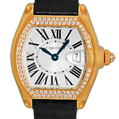 "Lady's 18K Yellow Gold Cartier ""Diamond Roadster"""