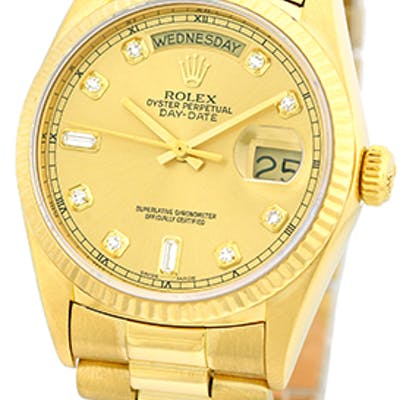 """Certified Pre-Owned Gent's 18K Yellow Gold Rolex """"Day-Date President"""""""