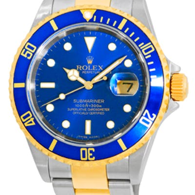 """Certified Pre-Owned Gent's Stainless Steel & 18K Yellow Gold Rolex """"Submariner"""""""