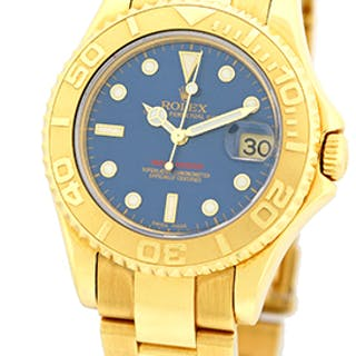 "Certified Pre-Owned Mid-Size Gent's 18K Yellow Gold Rolex ""Yachtmaster"""