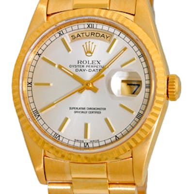 "Certified Pre-Owned Gent's 18K Yellow Gold Rolex ""Day-Date President"""