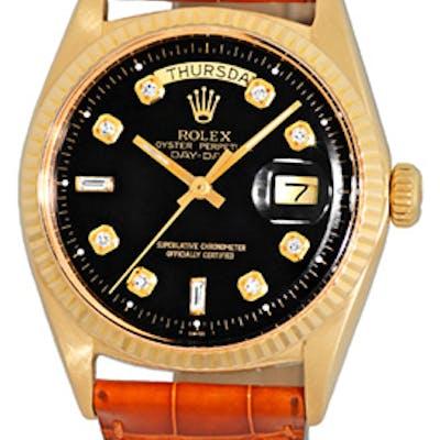 "Vintage Gent's 18K Yellow Gold Rolex ""Day-Date"" Strapwatch"