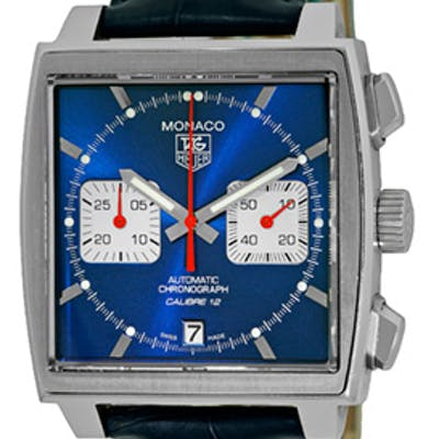 """Gent's Stainless Steel Tag Heuer """"Monaco"""" Automatic Chronograph"""