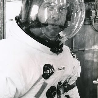 Nasa. Mission Apolllo 14. L'astronaute ALAN SHEPPARD. 1971.Tirage