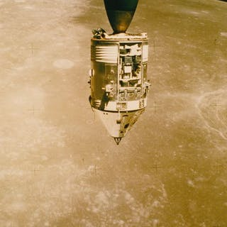 Apollo 15, 1971. Vue du module de commande de la mission Apollo 15