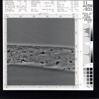 Nasa. Mission Viking. Rare image originelle éitée par les scientifiques