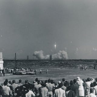 Nasa. Mission Apollo 7. Décollage de la fusée Apollo 7 depuis la base