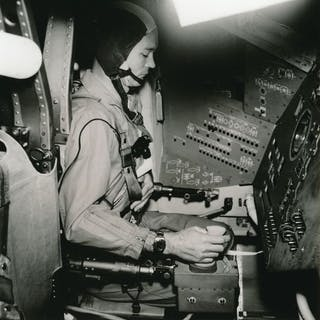 Nasa. Mission Apollo 11. L'astronaute Mickael Collins s'entraîne dans