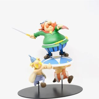 """UDERZO """"Asterix, Abraracourcix notre chef sur son bouclier"""" Leblon"""