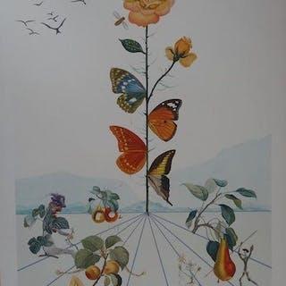 Salvador DALI (1904-1989) « Flordali II »1981 Lithographie et gaufrage