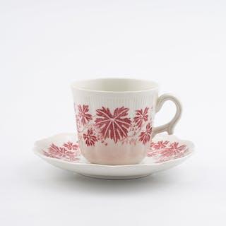 Kaffekopp Vinranka Röd Arthur Percy Gefle