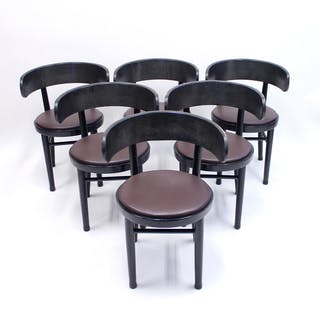 Chairs by Werner West for Wilhelm Schauman Ltd, circa 1940s, Set of 6