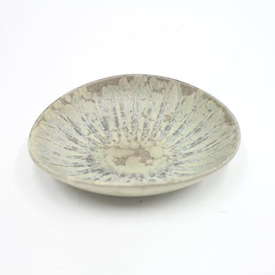 Carl-Harry Stålhane, green ceramic bowl, Rörstrand, 1950s