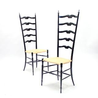 Vintage Italian Chiavari Chairs, 1950s, Set of 2