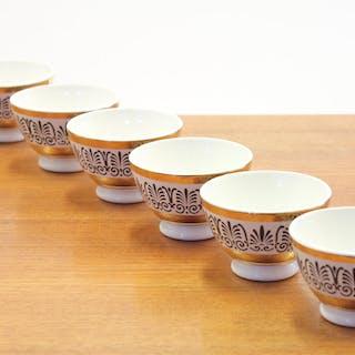 Vintage Italian Fornasetti Bowl Set of 4, 1980s