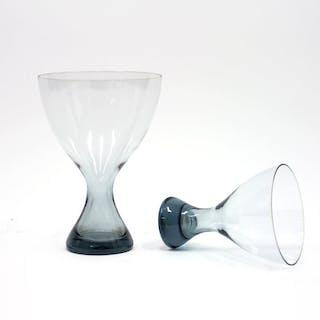 Light blue glass vases by Vicke Lindstrand for Kosta, 1960s, set of 2