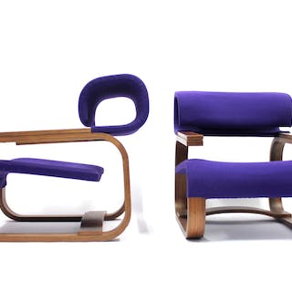 Bentwood Easy Chairs by Jan Bočan for the Czechoslovakian embassy