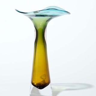 Swedish Glass Vase by Vicke Lindstrand for Kosta, 1950s