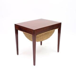 Severin Hansen rosewood sewing table for Haslev Møbelsnedkeri, 1950s