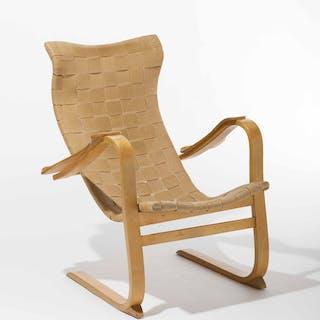 Swedish Patronen Birch Easy Chair by G.A. Berg, 1940s