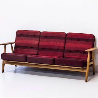 """1950s """"Cigar"""" sofa by Hans J. Wegner"""