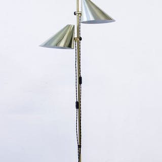 Brass floor lamp by Hans Agne Jakobsson