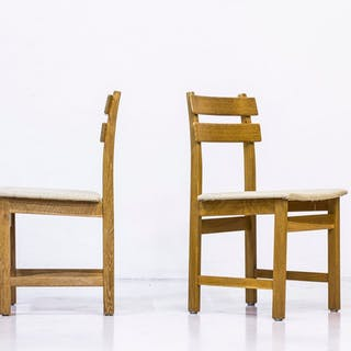 """1960s """"Singö"""" oak chairs by Carl Gustaf Boulogner"""