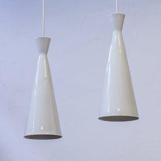 Pair of ceiling lights by Carl Harry Stålhane