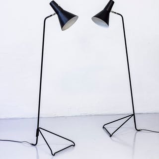 Pair of 1950s Floor lamps by ASEA