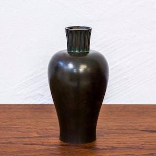 1930s bronze vase by GAB